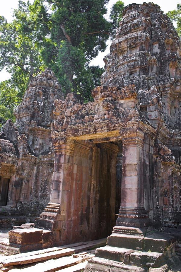 Preah Khan świątyni wejście fotografia royalty free