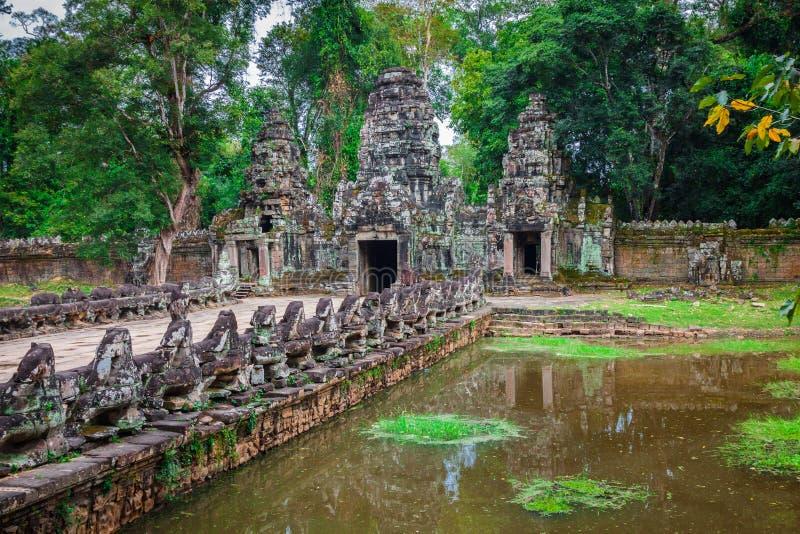Preah Khan świątynia, Angkor teren, Siem Przeprowadza żniwa, Kambodża zdjęcia stock