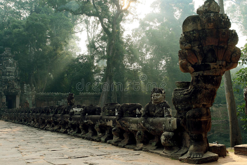 Preah Khan au Cambodge images stock