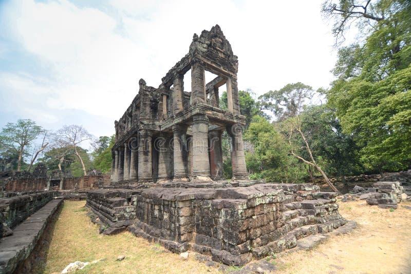 Preah Khan av Angkor Thom, Seim skördar, Kambodja fotografering för bildbyråer
