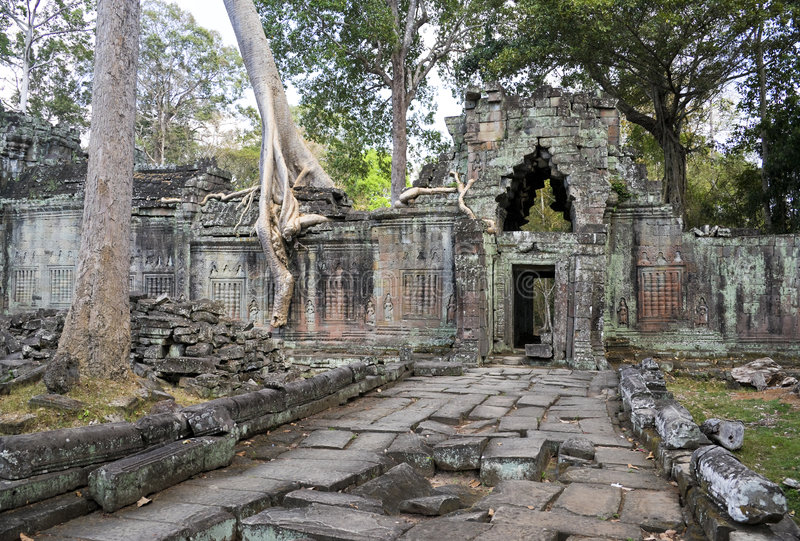 Preah Khan, Cambodia fotos de stock royalty free
