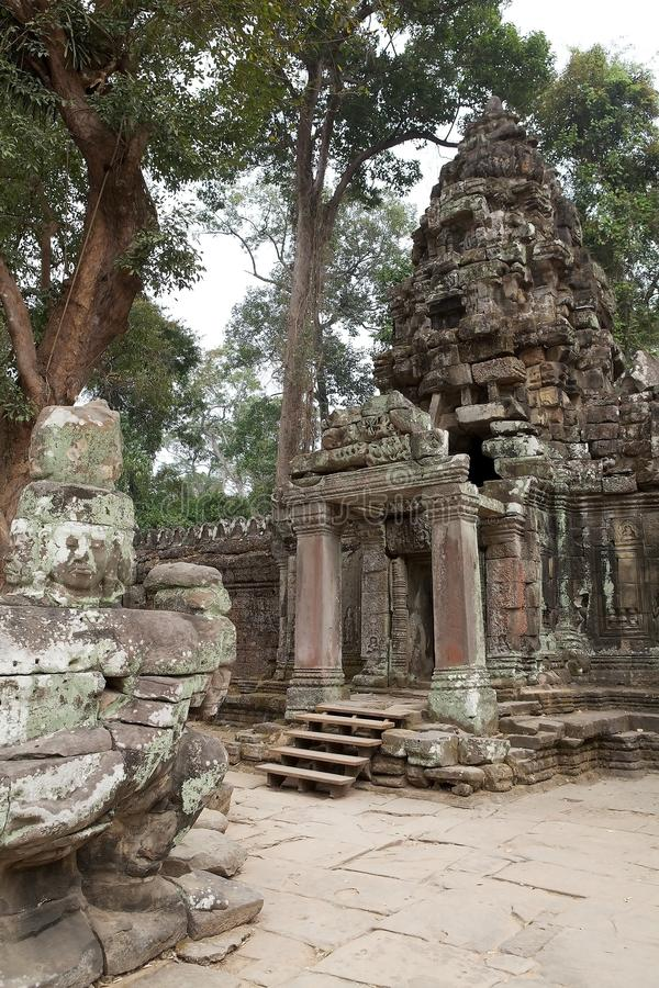Preah Khan. The gopura of the fourth enclosure at the Preah Khan temple ruins, Angkor, Siem Reap, Cambodia. Preah Khan was built in the second half of 12th royalty free stock photography