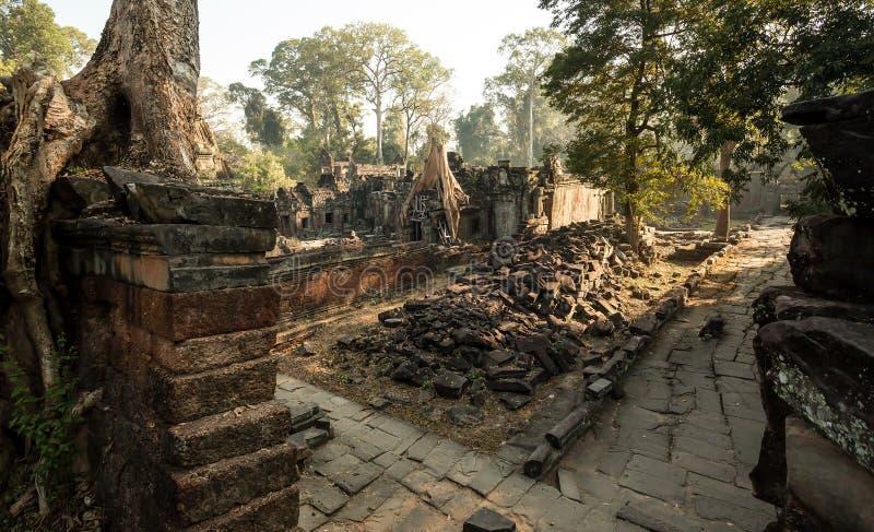 Preah Khan Panorama imagenes de archivo