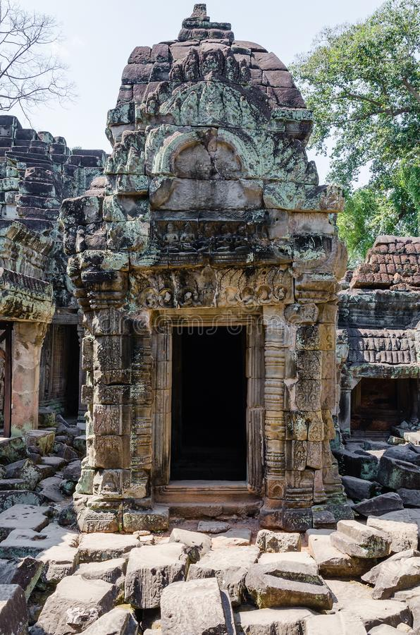Preah Khan Temple is The One of Ancient Temple In Angkor Thom Area at Siem Reap Province, Cambodia. royalty free stock image