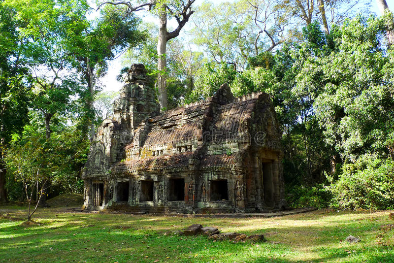 Preah Khan Temple. Side pavilion at Preah Khan Temple, Angkor, near Siem Reap, Cambodia stock images