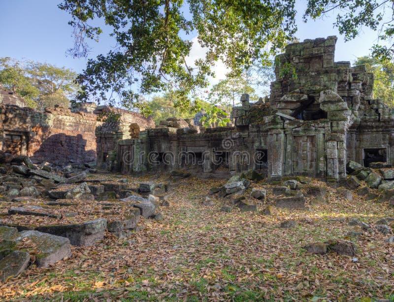 Preah Khan Temple. Ruins of Preah Khan Temple in Angkor Thom, Cambodia stock images