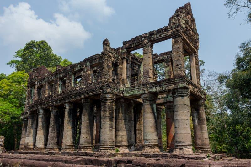 Preah Khan temple. Ancient ruins of Prasat Preah Khan temple in Angkor Wat complex in Siem reap, Cambodia stock photography