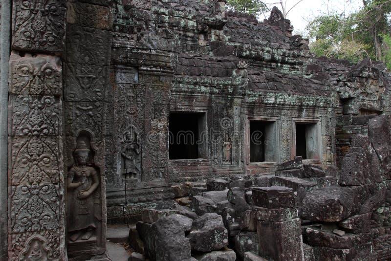 Preah Khan Temple in Angkor stockfoto