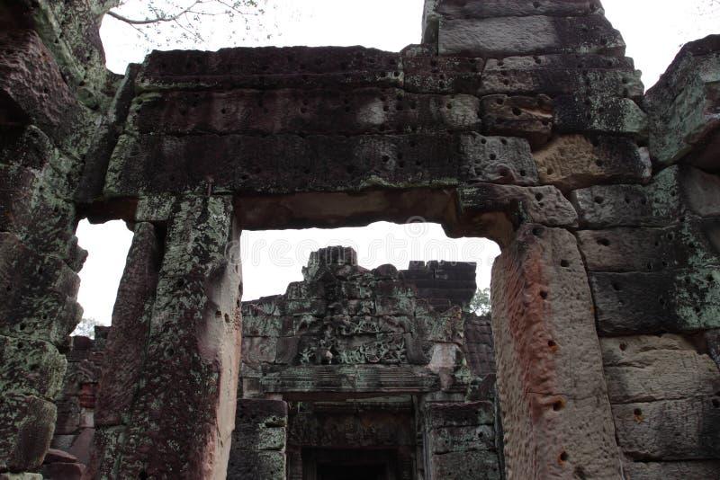 Preah Khan Temple in Angkor stockbild