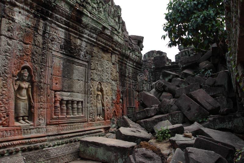 Preah Khan Temple in Angkor stockbilder