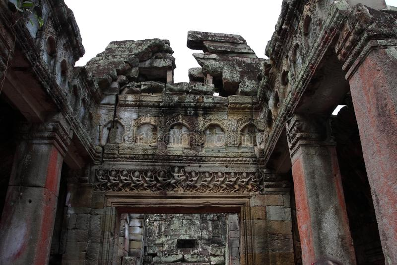 Preah Khan Temple in Angkor stockfotos