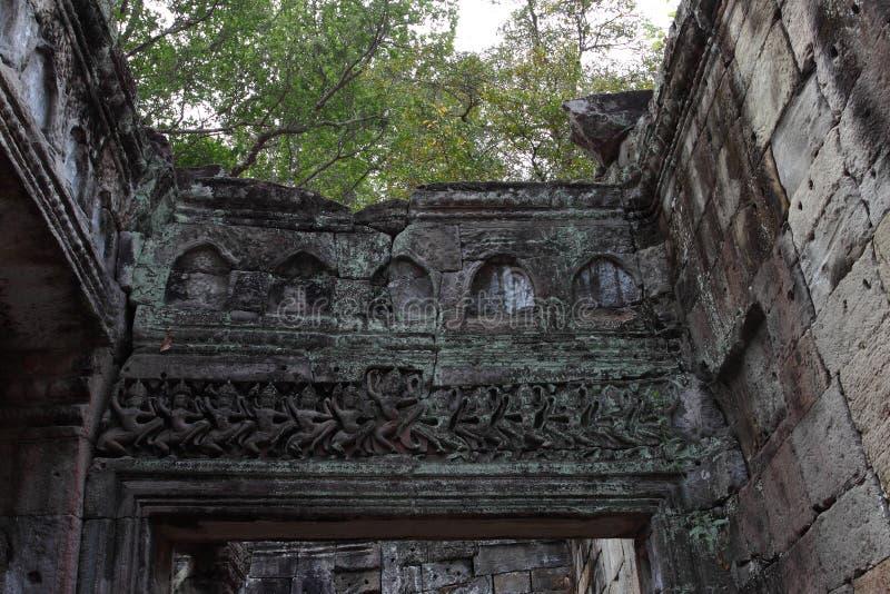 Preah Khan Temple in Angkor lizenzfreies stockbild