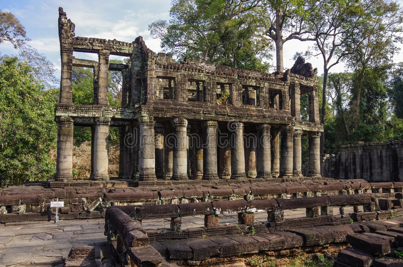 Preah Khan temple, Angkor area, Siem Reap royalty free stock image