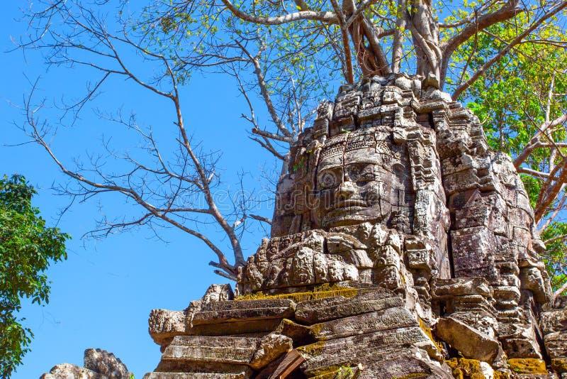 Preah Khan temple. In Angkor Wat, Cambodia royalty free stock photography