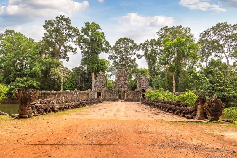 Preah Khan temple in Angkor Wat stock photography