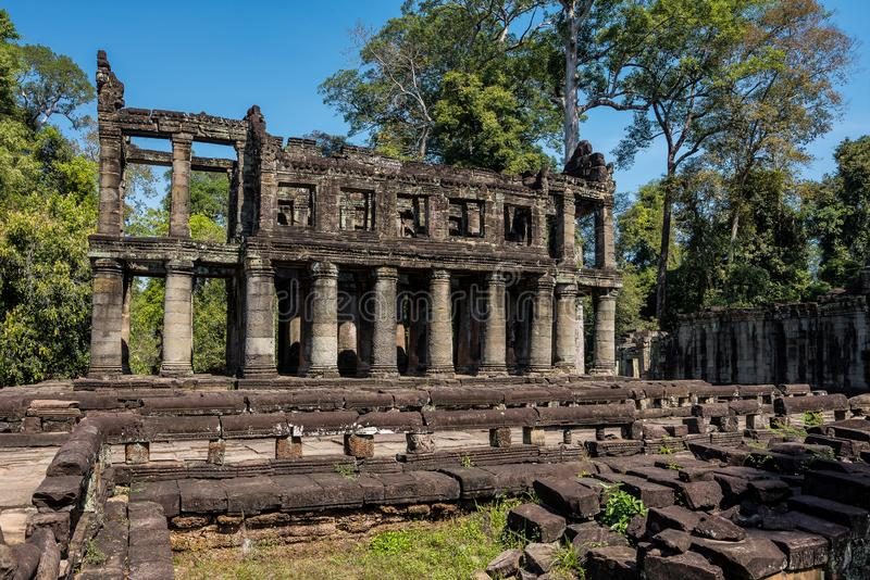 Preah Khan temple in complex Angkor Wat in Siem Reap, Cambodia. In a summer day stock images