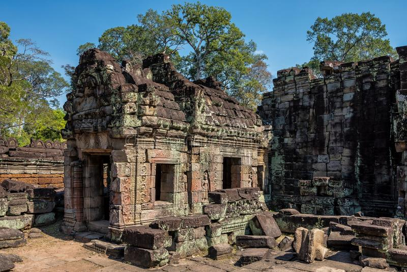 Preah Khan temple in complex Angkor Wat in Siem Reap, Cambodia stock photography