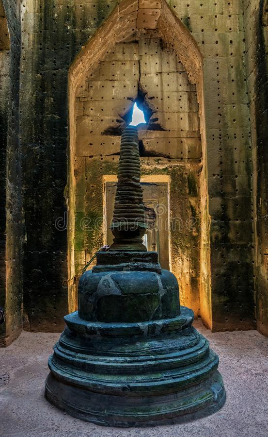 Preah Khan temple in complex Angkor Wat in Siem Reap, Cambodia royalty free stock photos