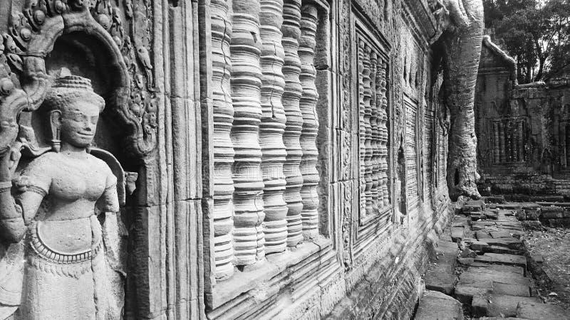 Preah Khan Temple en parc archéologique d'Angkor images libres de droits