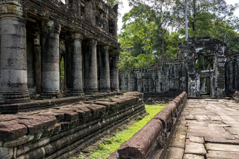 Preah Khan temple Siem Reap, Angkor Wat, Cambodia royalty free stock images