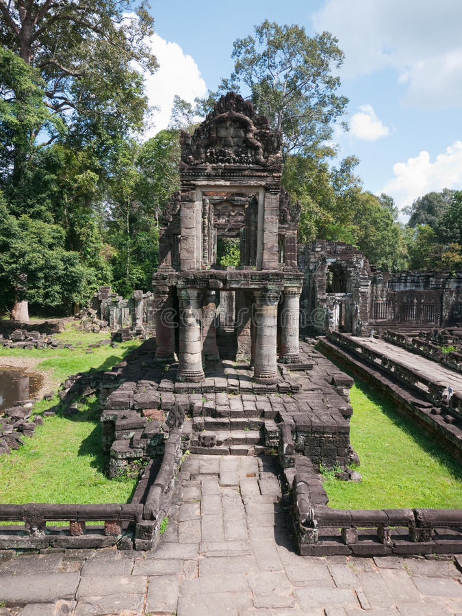 The Preah Khan Temple in Siem Reap, Cambodia. The Preah Khan Temple just north of Angkor Thom in Siem Reap, Cambodia stock photo