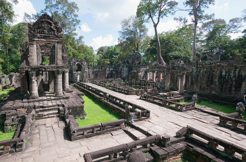 The Preah Khan Temple in Siem Reap, Cambodia. The Preah Khan Temple just north of Angkor Thom in Siem Reap, Cambodia royalty free stock photography