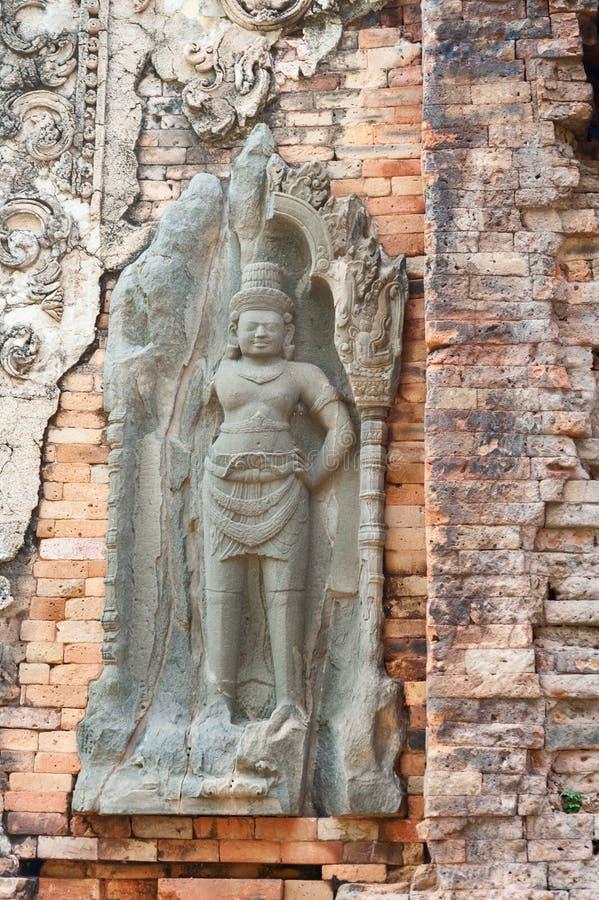 Preah Ko Bas Reliefs lizenzfreies stockbild