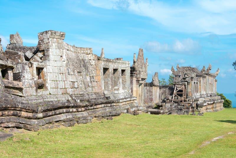 Preah Vihear, Camboja - 3 de dezembro de 2016: Templo de Preah Vihear um fam fotos de stock royalty free