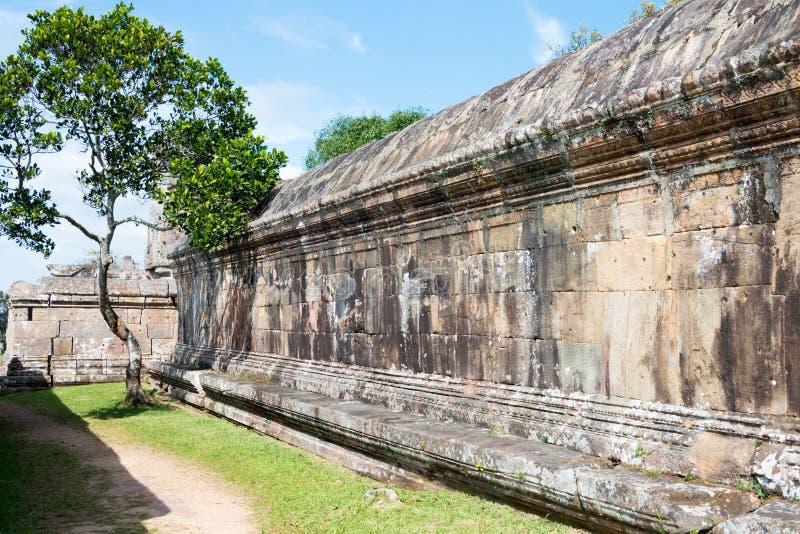 Preah Vihear, Camboja - 3 de dezembro de 2016: Templo de Preah Vihear um fam fotografia de stock royalty free