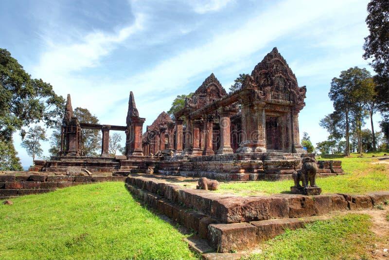 Preah Vihear tempel andan av det kambodjanska folket royaltyfria bilder