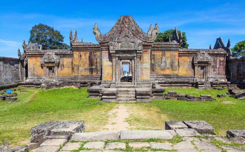 Preah- Viheartempelspitze an Preah- Vihearberg gelegen in Preah- Vihearprovinz Kambodscha stockfoto