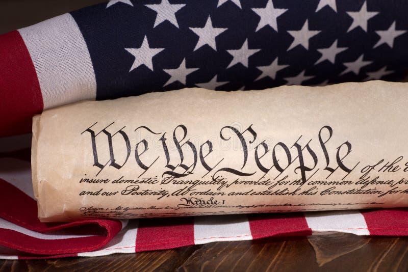 Preambuła Stany Zjednoczone konstytucja obrazy royalty free
