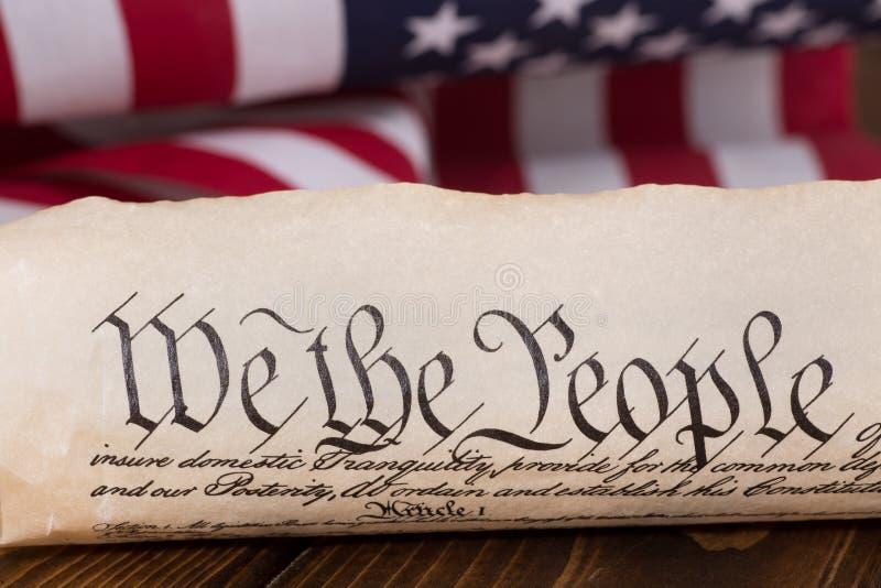 Preambuła Stany Zjednoczone konstytucja zdjęcia stock