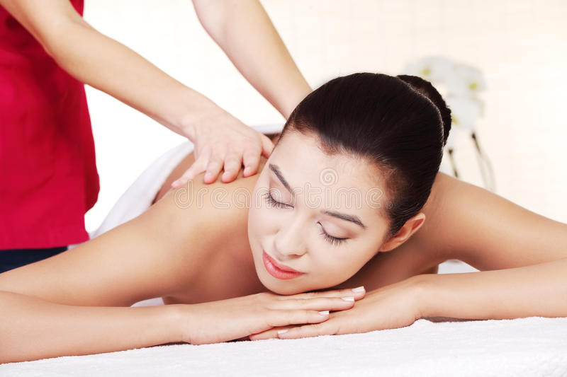 Download Preaty Young Woman Relaxing In Spa Saloon Stock Image - Image: 27045247