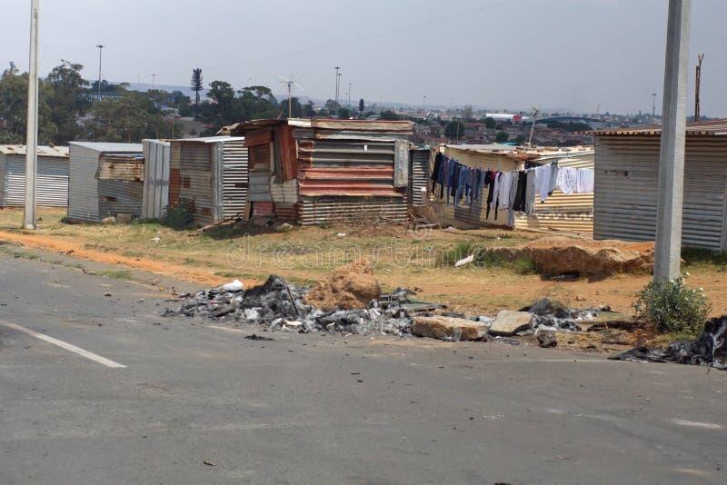 Precário em Soweto fotografia de stock royalty free