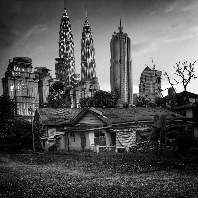 Precários de Kuala Lumpur imagens de stock