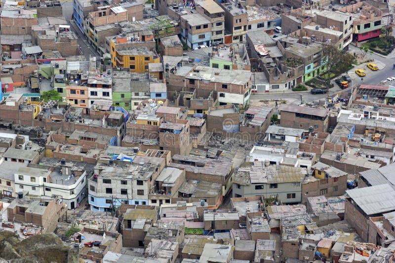Precários de San Cristobel em Lima no Peru imagens de stock