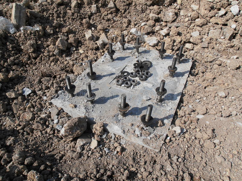 Precast betonu podstawa w Tajlandia zdjęcie royalty free