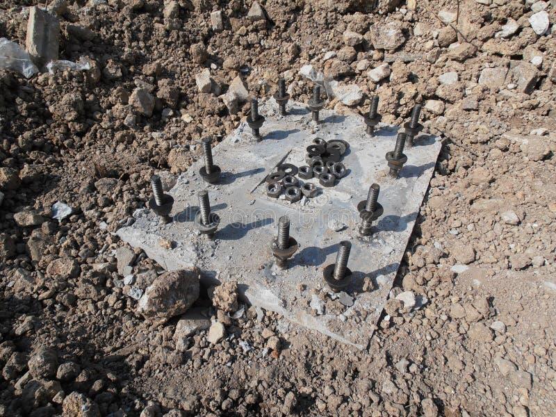 Precast concrete foundation in Thailand royalty free stock photo