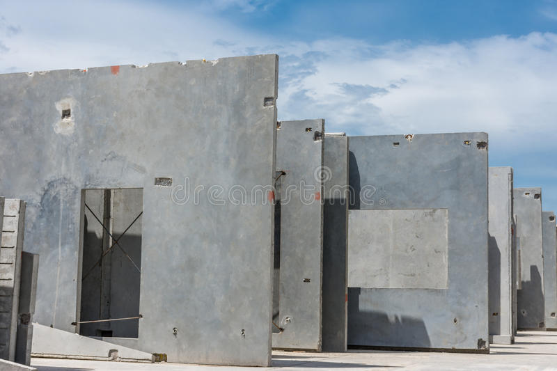 Concrete Building Panels : Precast concrete wall panel stock image of site