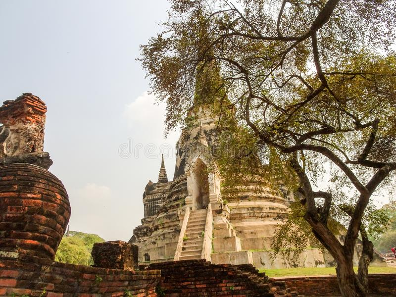 Precedente capitale di Ayutthaya del regno del Siam immagine stock libera da diritti