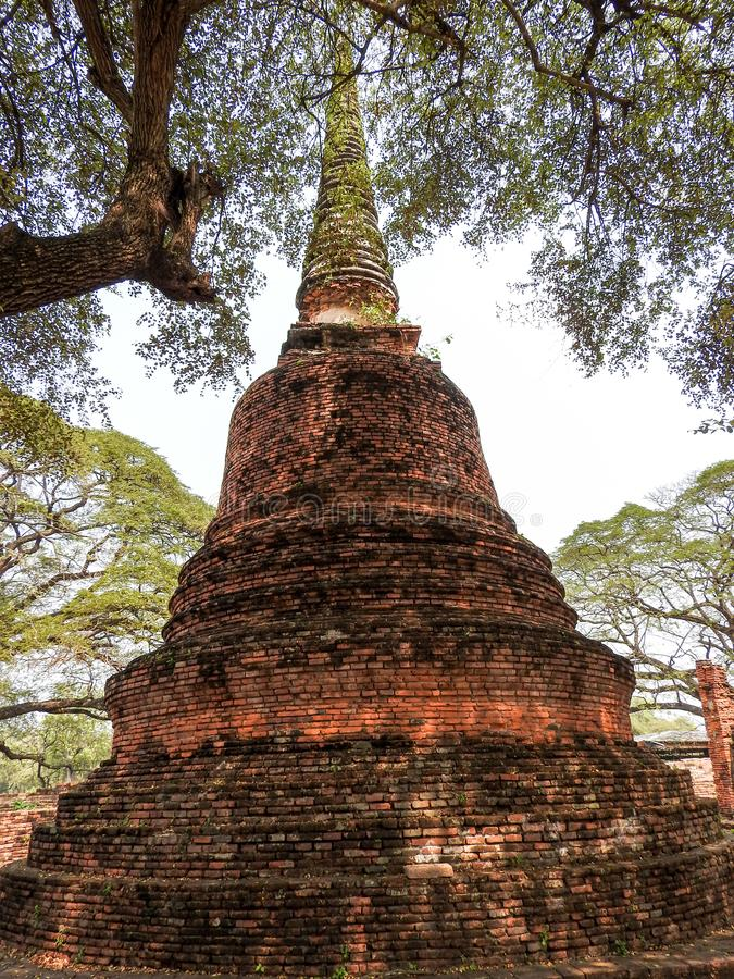 Precedente capitale di Ayutthaya del regno del Siam immagine stock