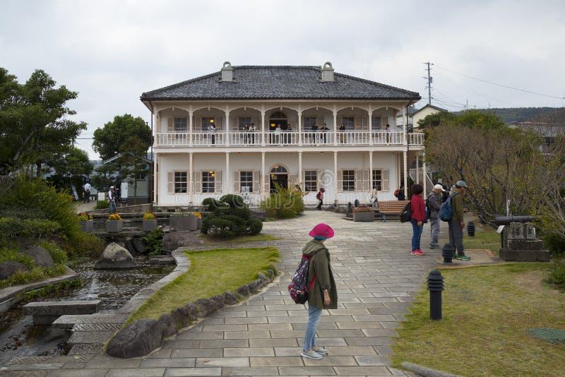 Precedente casa di bacino di Mitsubishi secondo in Glover Garden a Nagasaki, Giappone fotografia stock