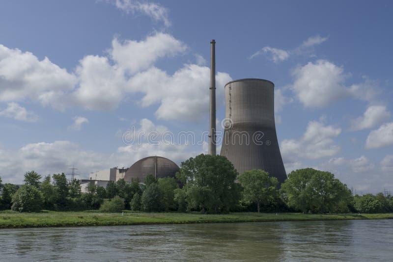 Precedente centrale nucleare Renania-Palatin del lheim-Kärlich del ¼ di Mà immagine stock libera da diritti
