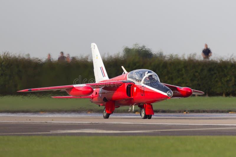 Precedente Royal Air Force RAF Folland Gnat T Mk 1 aereo di istruttore del getto G-RORI fotografia stock libera da diritti