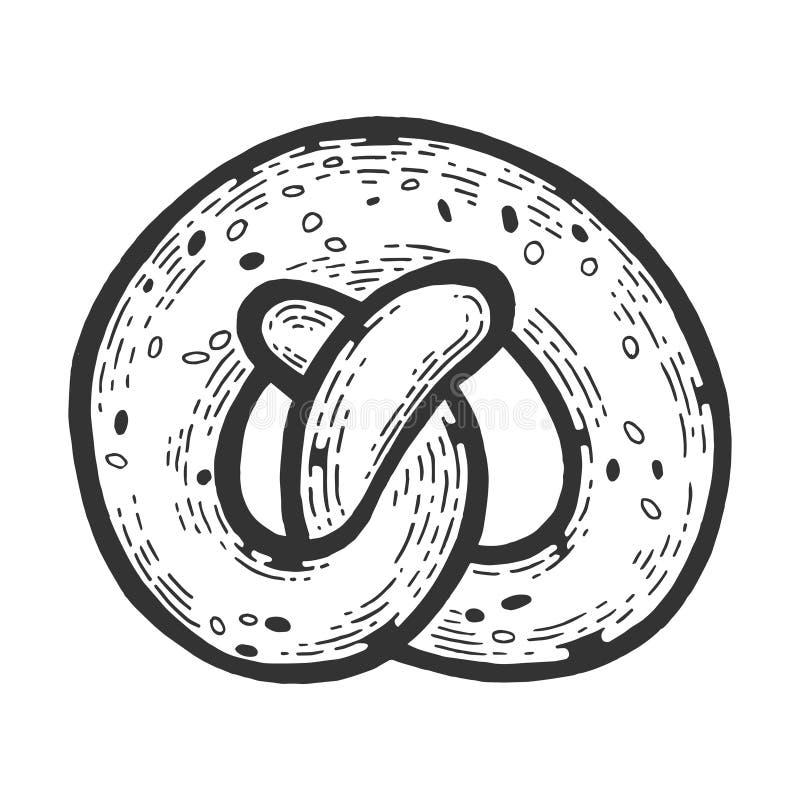 Precel piekarni produktu nakreślenia rytownictwa wektor ilustracji