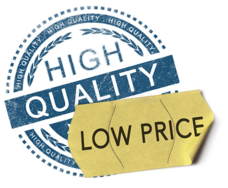Precio bajo de alta calidad, ilustración del vector