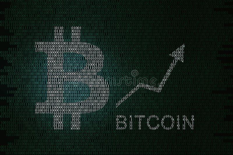 Precio de Bitcoin ilustración del vector