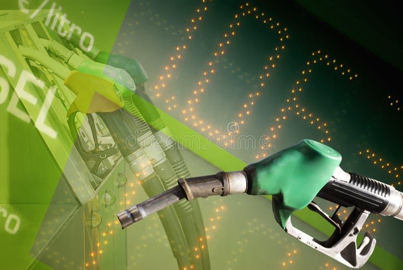 Precio de combustible foto de archivo