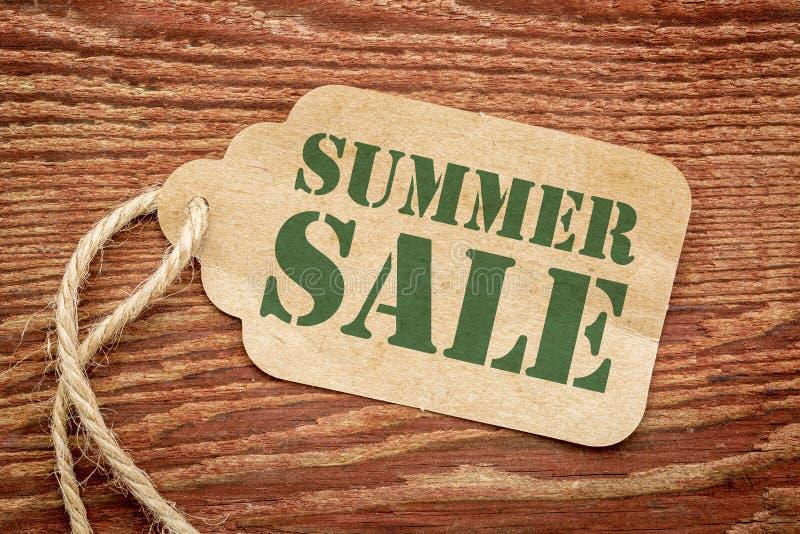 Precio de la etiqueta del papel de la venta del verano fotos de archivo libres de regalías
